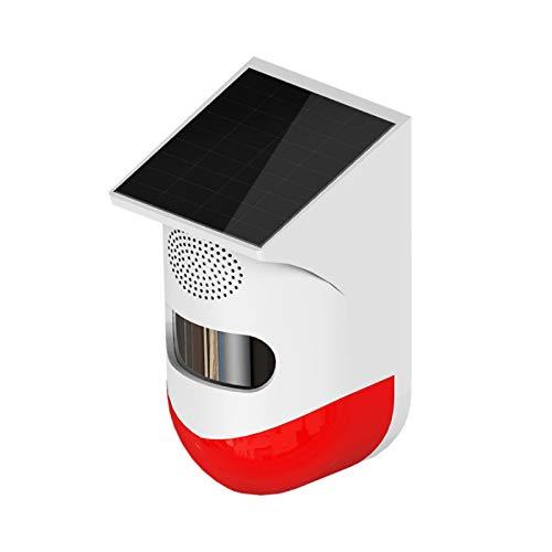 YAMAZA Outdoor Solar Alarm, Alarmsystem mit PIR Bewegungsmelder, wasserdichte Intelligente Volumenerkennung, EIN Tasten Steuerung, Geeignet für den Familiengarten Outdoor