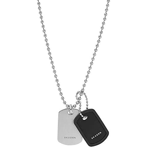 Skagen - Silberfarbene Halskette aus Edelstahl und Aluminium von Kvarter für Herren, Einheitsgröße SKJM0167998