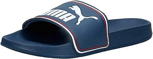 PUMA Leadcat FTR, Zapatos de Playa y Piscina Unisex Adulto, Azul (Dark Denim White/High Risk Red), 43 EU