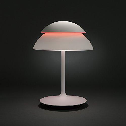 Philips Hue Beyond Lámpara de Mesa Inteligente LED, Luz Blanca y de Colores Posibilidad de Control por Voz
