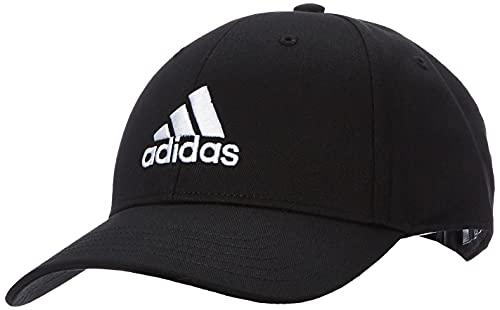 adidas Baseball Cotton Twill Kappe, Black/Black/White, OSFM