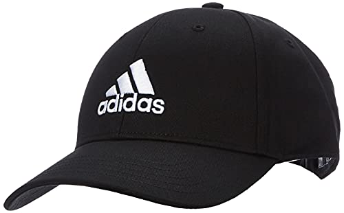 adidas Bball cap COT, Cappellino Unisex-Youth, Black/Black/White, OSFW