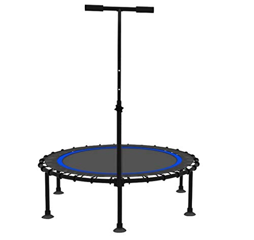 LKFSNGB trampoline voor professionele oefeningen met een stabiel stuur, sporttrampoline en het elastische touw voor meer veiligheid, trampoline voor binnen 40 inch (40 cm).