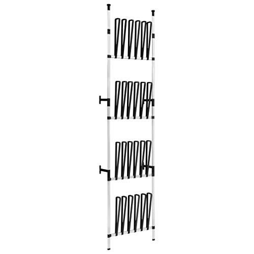 vidaXL Perchero para Botas Telescópico con Barras Estante Almacenamiento Organizador Ropa Armario Colgante Habitación Dormitorio Aluminio