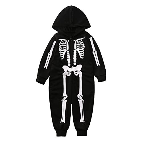 Hengyouhui Halloween Kostüm Anzug Herren Damen Junge Mädchen Jumpsuit Overall Pyjama Tieranzüge Onesie Schlafanzug Lang Pajama