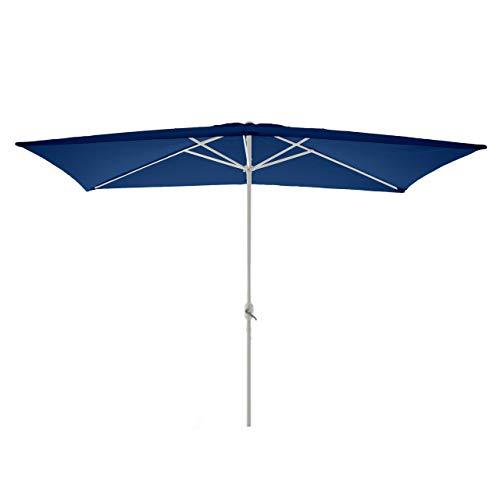 Nexos Sonnenschirm, blau, 200x300 cm quadratisch, Gestell Stahl, Bespannung Polyester, 6 kg