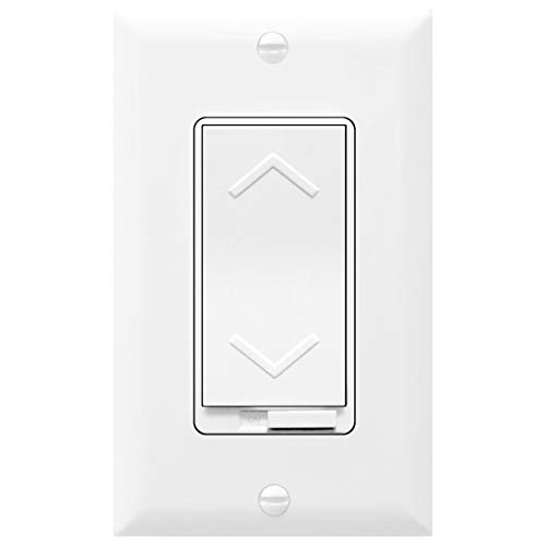 TOPGREENER Dimmer Switch, 150W Dimmable LED/CFL | 600W Incandescent and Halogen, Neutral Wire Required, 3 Way Switch | Electrical, 120VAC, TGDS-120, White