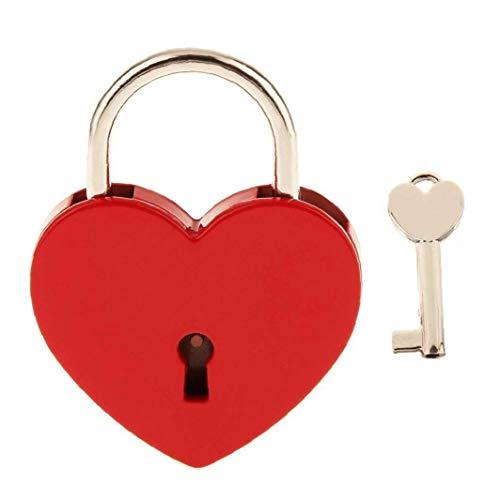 Un Candado En Forma De Corazón Con El Paquete De Key Pequeño Corazón Metálico En Forma De Candado Mini Lock Con Bloqueo Rojo Del Regalo Del Amor Clave De San Valentín