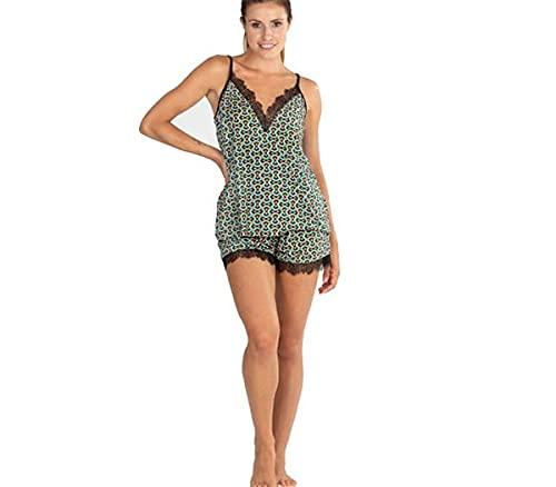 PETTRUS Pijama de Mujer de Verano 2736 (L)