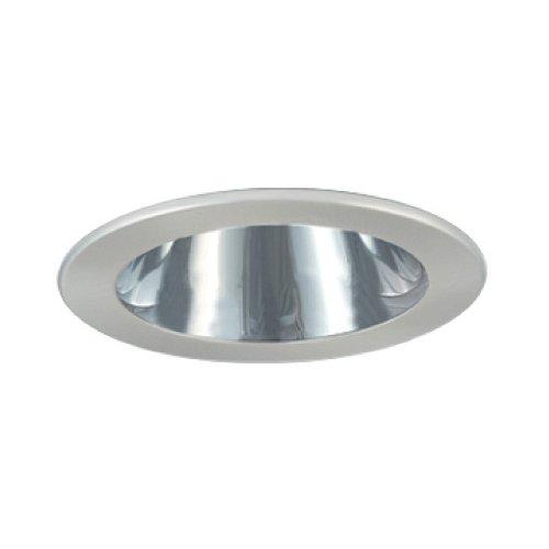 Jesco Lighting TM402CHCH 4-Inch Aperture Low Voltage Trim Recessed Light, Adjustable Open Reflector, All Chrome Finish