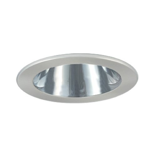 Jesco Lighting TM402CHCH 4-Inch Aperture Low Voltage Trim Recessed Light, Adjustable Open Reflector, All Chrome Finish