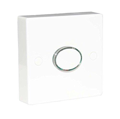 Interruptor de temporizador iluminado de 6 A, tiempo de espera de retardo de energía, 12 segundos a 12 minutos, 2 cables ajustables