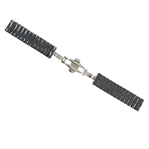 Baoblaze Keramik Armband Uhrenarmband Strap Ersatz Armband mit Edelstahl Schnalle 20mm