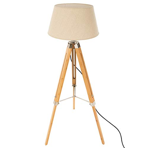 marque Atmosphera, créateur d'intérieur Lampadaire trépied RUNO Bambou H145cm