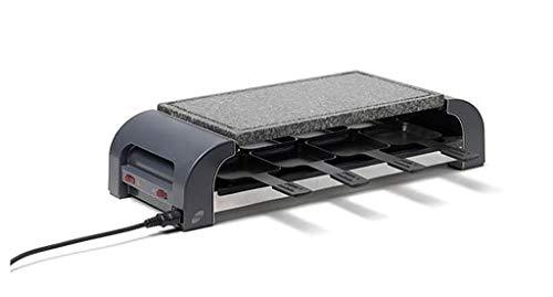Stöckli Grill PIZZAmax8 Hot'Stone, schwarz, Granitplatte, Minipizzas Raclette Grilladen, 8 Personen, 2800.02HS