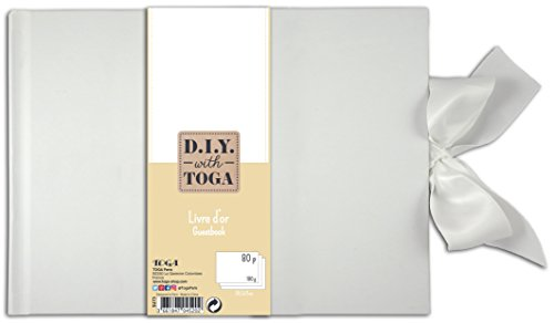 D.I.Y Toga su73 gastenboek met blanco pagina's Notebook Wit 30x21x1.5 cm