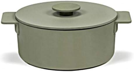 Surface Enameled Cast Daily bargain sale Iron Ranking TOP4 Dutch Oven Pot 3 Sage L Medium Green