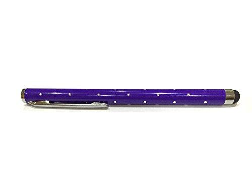 C63® - Luxe Paarse PRO Stylus Pen met Mooie Reflecterende Spiegels. Voor alle mobiele telefoons en Touch Screen Tablets.