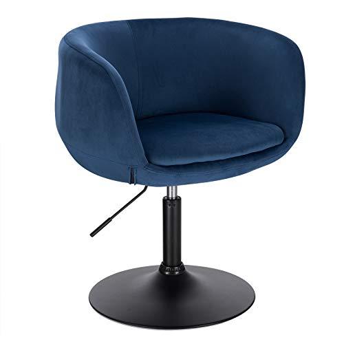 Woltu Taburete de bar o silla de escritorio con reposabrazos