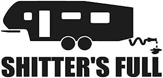Shitters Full 5th wheel sticker - Decal [BLACK] 5