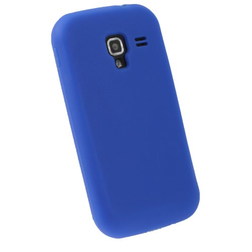 igadgitz U1808 Custodia Silicone Compatibile con Samsung Galaxy Ace 2 I8160 Case Cover con Protettore Schermo - Blu
