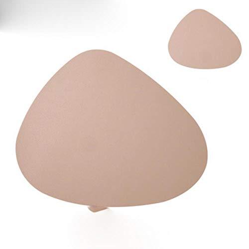 AOM - Set de table en cuir synthétique - Imperméable - Isolation thermique - Antidérapant - Dessous de verre - H - Couleur thé au lait - 45 x 36,8 cm - 1 pièce
