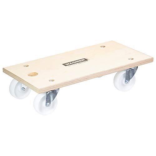 WAGNER Plataforma de Carga MM 1127, Orificio de Transporte, 25 Años de Garantía, 59 x 30 cm - Ideal para Objetos Poco Manejables, 500 kg de Capacidad de Carga, Certificado FSC® - 20112701