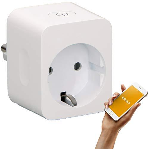 idinio® Smart Steckdosenadapter Power view, beliebige Geräte Ein-/Ausschalten, Energiemessfunktion, Zeitschaltuhr per App, 2.300 Watt, WLAN, kostenlose App für iOS und Android, Skill für Echo
