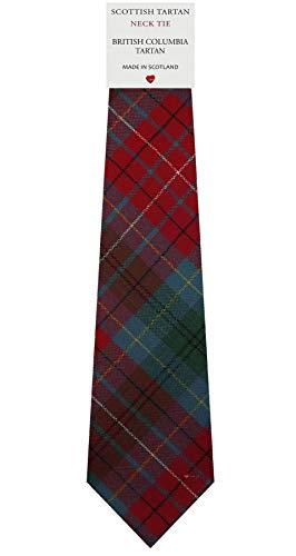 I Luv Ltd Cravate en Laine pour Homme Tissée et Fabriquée en Ecosse à British Columbia Canadian Tartan