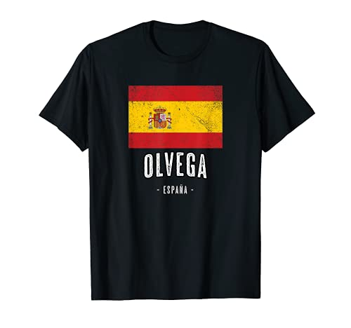 Olvega España | Souvenir - Ciudad - Bandera - Camiseta