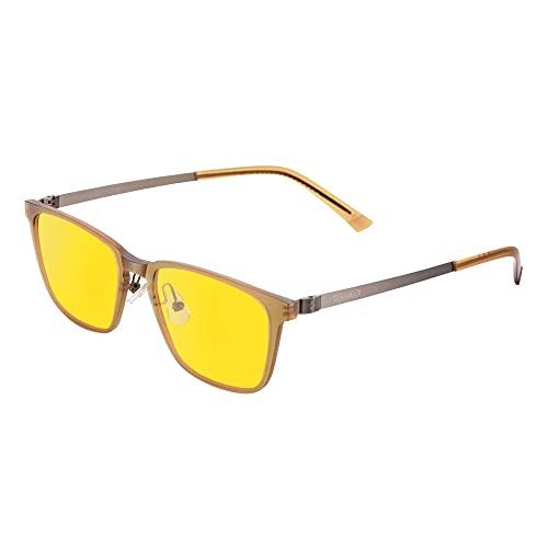PRiSMA FRANKFURT EASY90 Gamingbrille, Blaulichtfilter-Brille FF702, Brille mit Blaufilter, Bildschirmbrille Blaulicht
