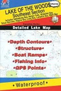 Lake of the Woods Fishing Map: Southeast. (Canadian Fishing Map Series, Q272)