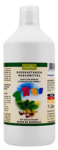 NaturGut Rosskastanien Waschmittel - 1L natürliches und hautfreundliches Waschmittel - flüssiges Waschmittel mit Savon de Marseille verstärkt - MADE IN GERMANY