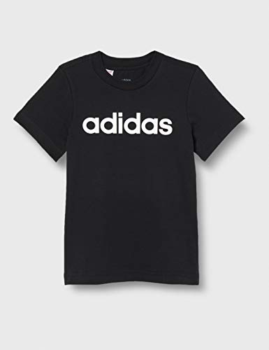 adidas Youth Boys Essentials Linear T-Shirt, T-Shirts Bambino, Black/White, 140