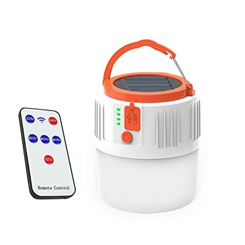 Passer Luz de tienda de campaña, luz de camping de carga solar de alto brillo, recargable por USB, linterna LED linterna de camping con 5 modos de iluminación