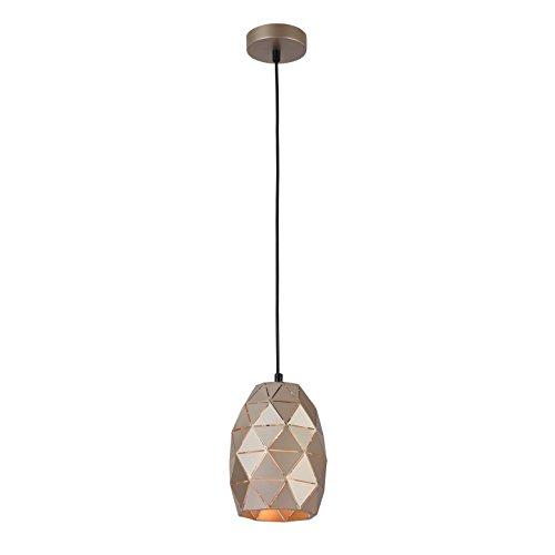 Moderne außergewöhnliche Pendelleuchte, Lampenschirm aus Metall Messing, höhenverstellbar, für Küche Wohnzimmer Esszimmer Bar Café Restaurant, 1-flammig, exkl. E27 1 x 40W, 220-240 V