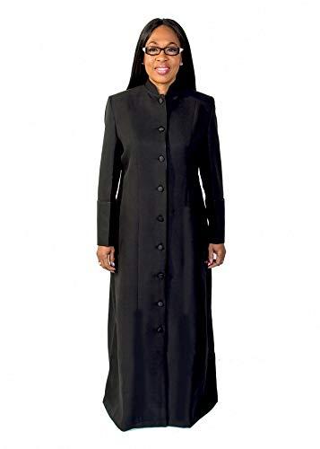 Mercy Robes Ladies Robe LR111 (Black/Black) (10, Black)