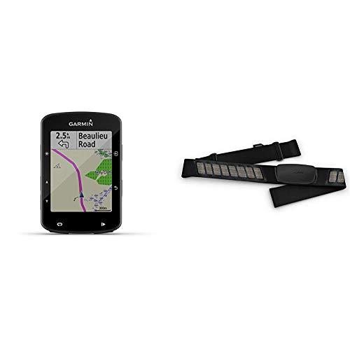 """Garmin Edge 520 Plus GPS-Fahrradcomputer - Navigationsfunktionen, Europakarte, 2,3"""" Display & Premium-Herzfrequenz-Brustgurt Dual Basic, Herzfrequenzdaten in Echtzeit"""