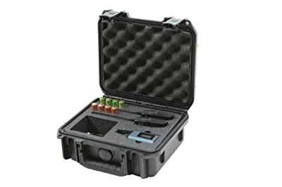 SKB 3I-0907-4-SWK Injection Molded Case for Sennheiser SW Wireless System with Foam for 3 Microphones - Black