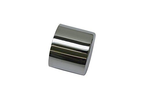 GARDINIA Endkappen für Gardinenstangen, 2 Stück, Serie Chicago, Durchmesser 20 mm, Metall, Chrom