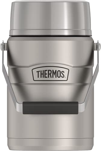 Thermos Stainless King 47 Ounce Vacuum Insulated Food Jar with 2 Inserts, Matte Black (SK3030MSTRI4)