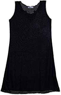 Mariposa Women's Broad Strap Midi Slip In Multiple Colors With Lace