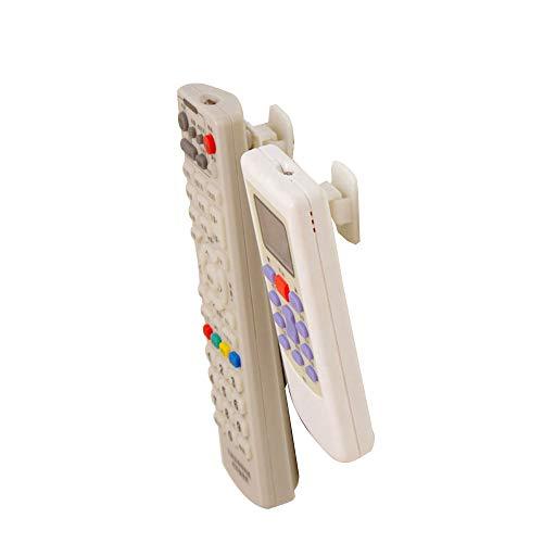 showll 4 Set TV Fernbedienung Halter Haken TV Klimaanlage Fernbedienung Halter Wandhalterung Ablage Sticky Haken Self Adhesive Strong Aufhänger Halter Wand Sensor