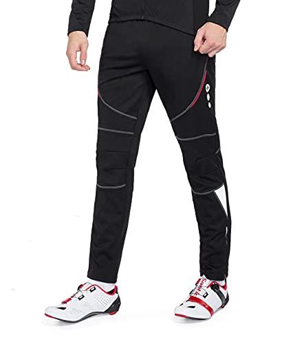 Hiver Longues Pantalon Cycliste Hommes Polaire Fleece...