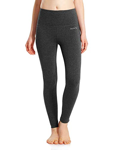 BALEAF Women's Yoga Leggings High Waisted Tummy Control Pants Non See-Through Fabric Charcoal Size S