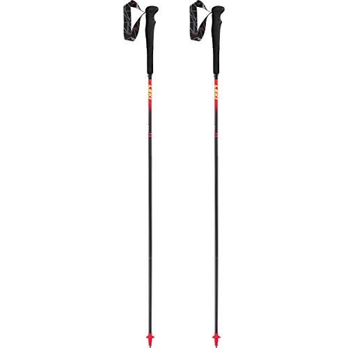 Leki Micro RCM Superlight Bastones, Unisex Adulto, naturalcarbon-Fluorescent Red-Neonyellow, 120 cm
