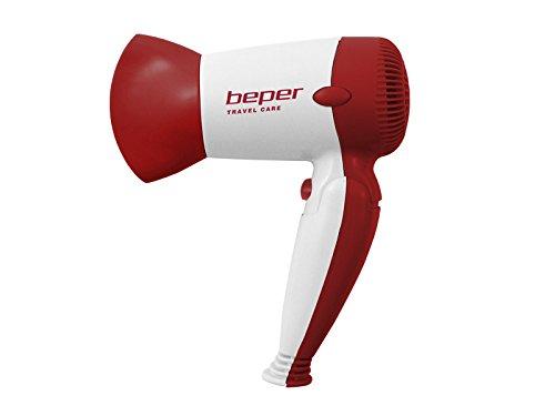 Beper 40.981h/Red – Sèche Cheveux de Voyage, puissance réglable, 1200 W, couleur rouge