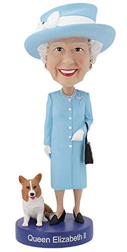 Royal Bobbles - Wackelkopffigur Queen Elizabeth II. - mit ihrem Corgi