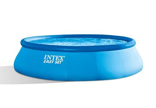 Intex Kit Piscine Piscine Support Easy, certifié TÜV/GS, Bleu, Ø 457 x 107 cm
