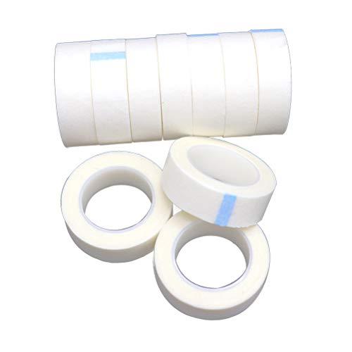 Lurrose Rubans à cils Rubans à cils en tissu pour approvisionnement d'extension de cils 24 pcs